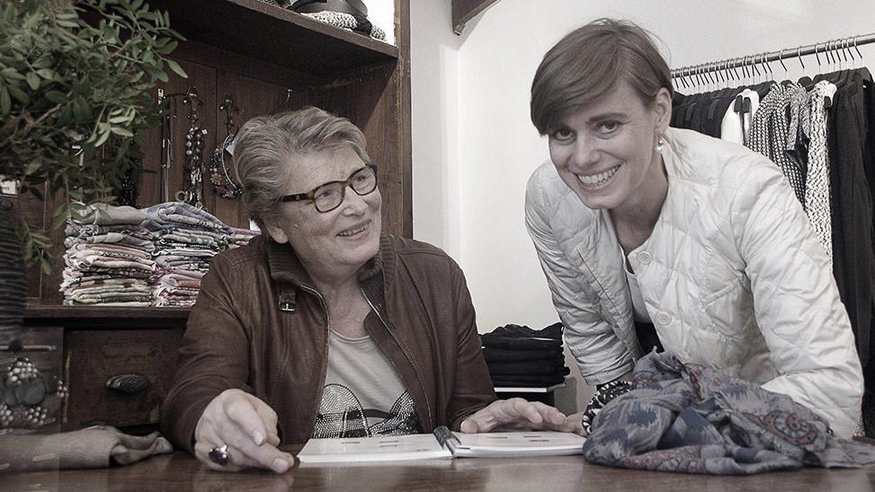 Sunhild Baltzer und Gabriele Mensing, das Team von Baltzer Moden Marburg